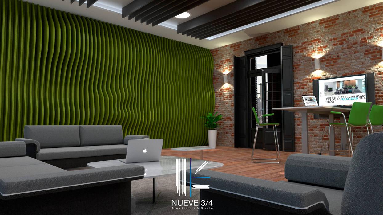 Diseño interior oficinas: oficinas y tiendas de estilo por nueve 3/4 ...