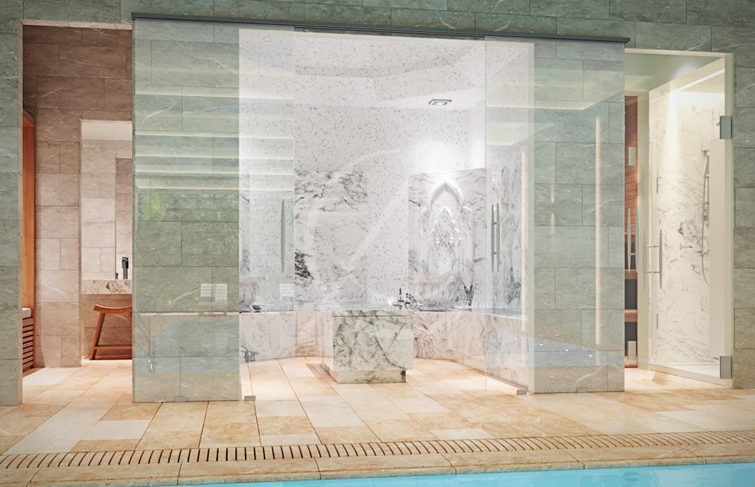 Turkish Bath:  Steam Bath by Comelite Architecture, Structure and Interior Design