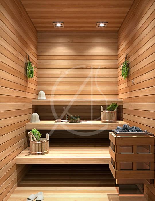 Sauna par Comelite Architecture, Structure and Interior Design Moderne Bois Effet bois