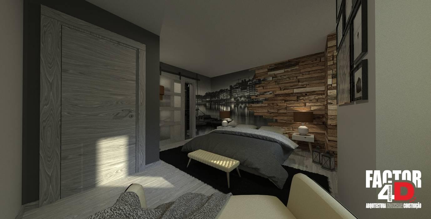 Phòng ngủ phong cách kinh điển bởi Factor4D - Arquitetura, Engenharia & Construção Kinh điển