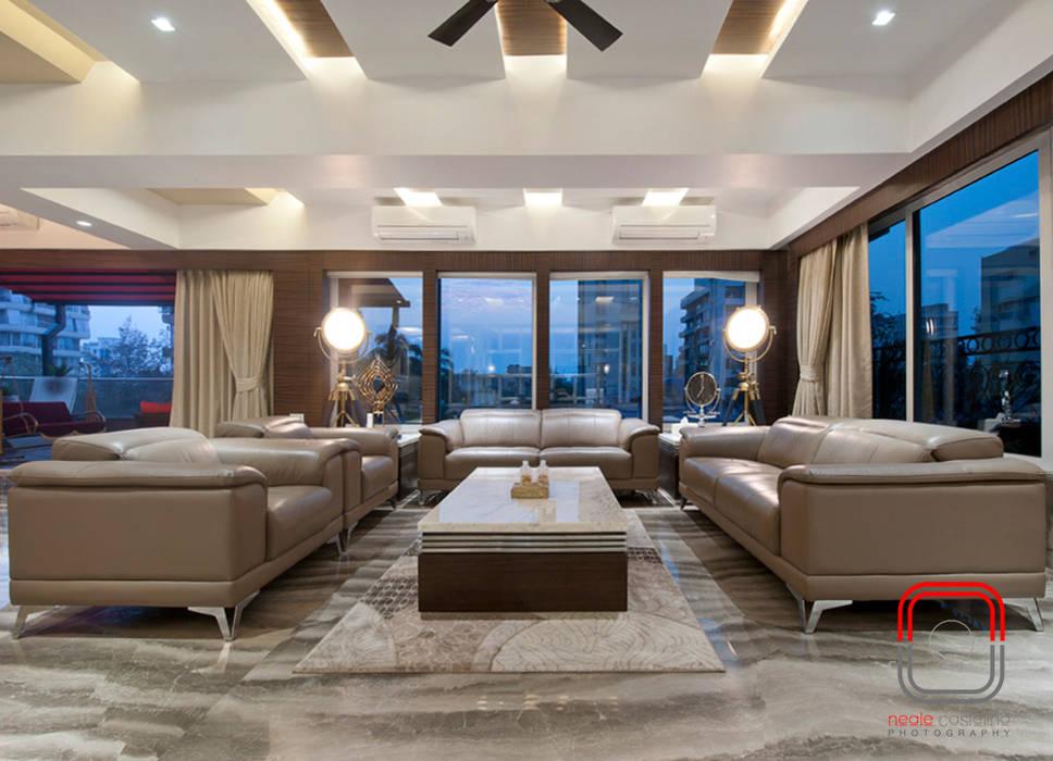 Juhu Residence Modern Living Room by neale castelino Photography Modern