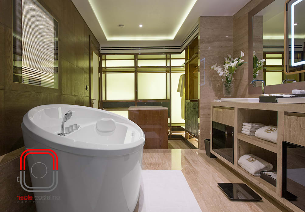 Sample Flat: modern Bathroom by neale castelino Photography