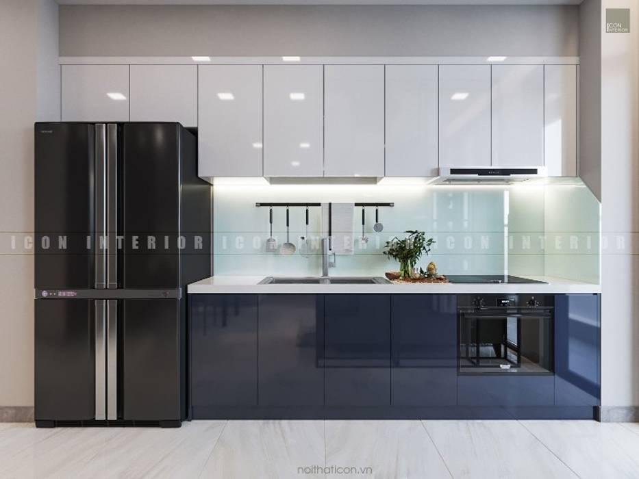 Aqua 3 Vinhomes Golden River - Phong cách hiện đại:  Tủ bếp by ICON INTERIOR, Hiện đại