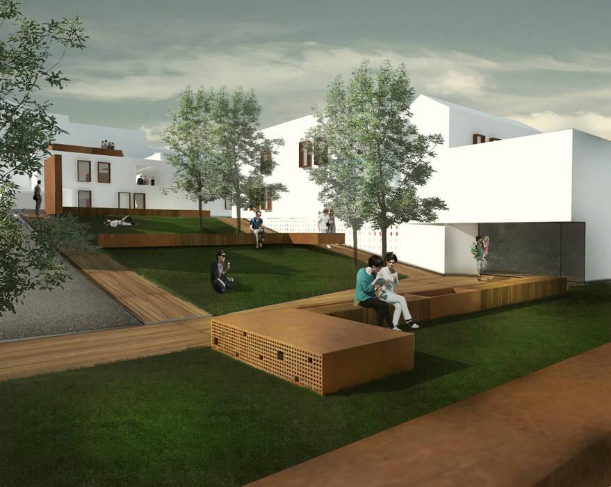 Spazio pubblico: Giardino in stile in stile Mediterraneo di Architetto Maria Grazia Gai