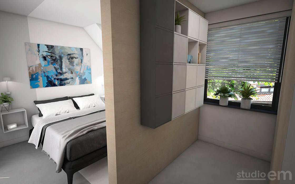 Interieurontwerp 3d impressie slaapkamer met inloopkast ...