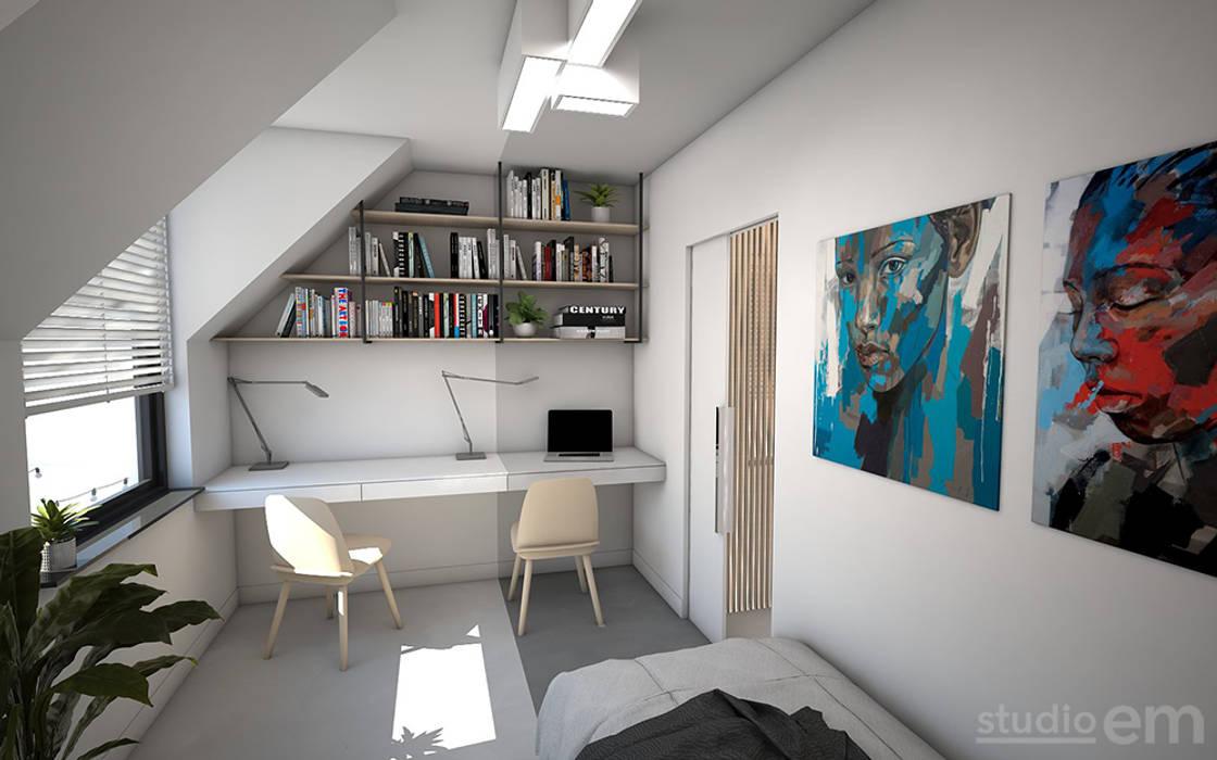 Interieurontwerp d impressie werkkamer studeerkamer kantoor door
