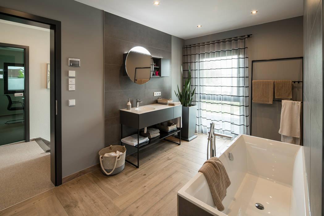 Maxim – gemütliches badezimmer mit holzboden moderne ...