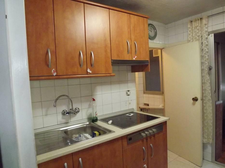 Cocina antes de Almudena Madrid Interiorismo, diseño y decoración de interiores Escandinavo