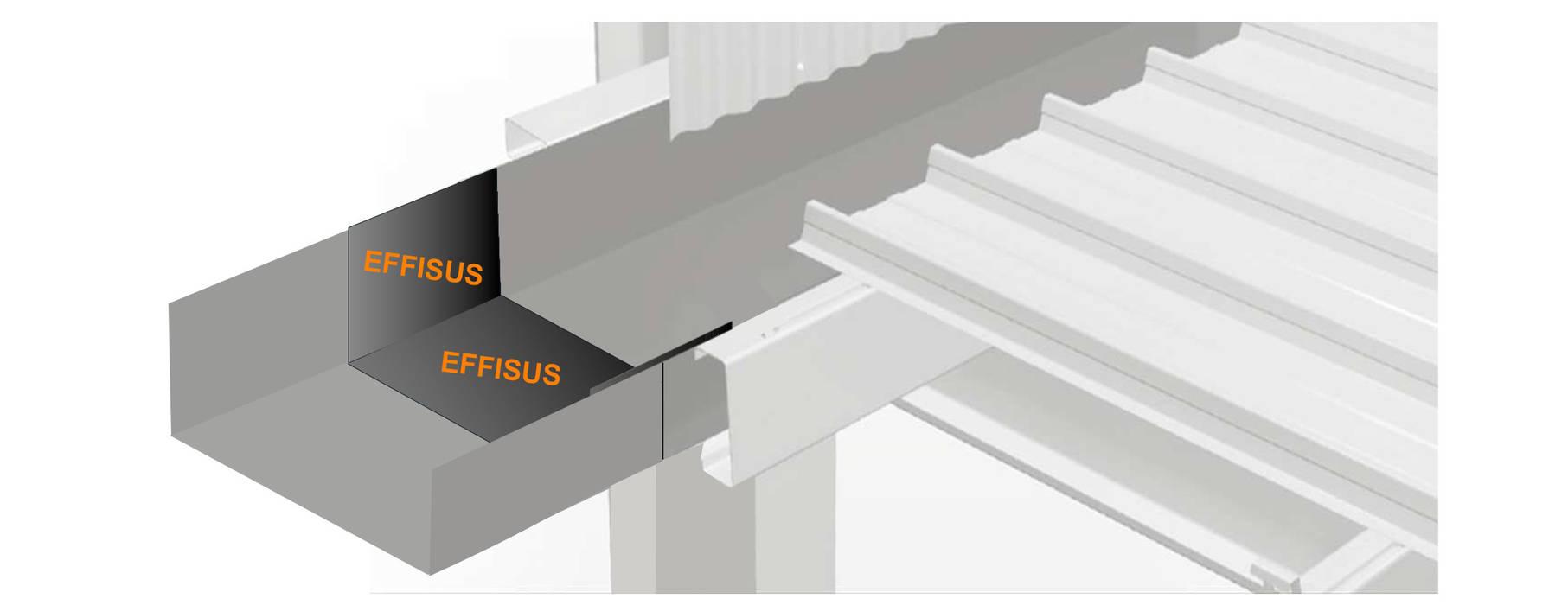 Oficinas y Tiendas de estilo  por EFFISUS - Excellence in Weatherproofing Solutions