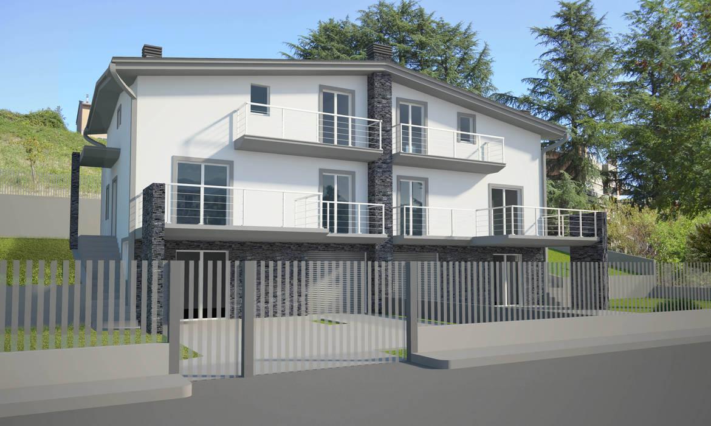 Progetto di un villino bifamiliare: Villa in stile  di Ivo Astazi - Architecture & Design