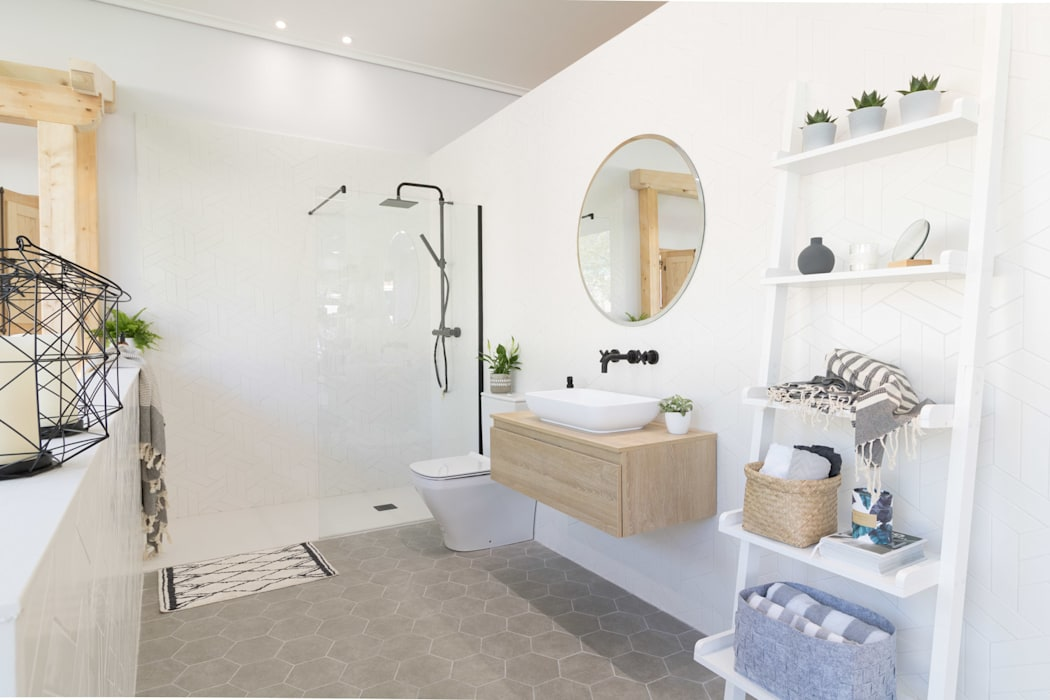 Baño de AR Home: Baños de estilo  de Become a Home