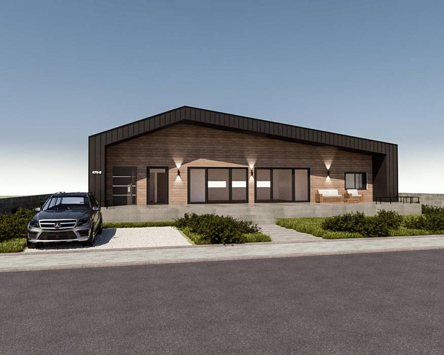 Modern Houses by 디자인 이업 Modern Wood-Plastic Composite