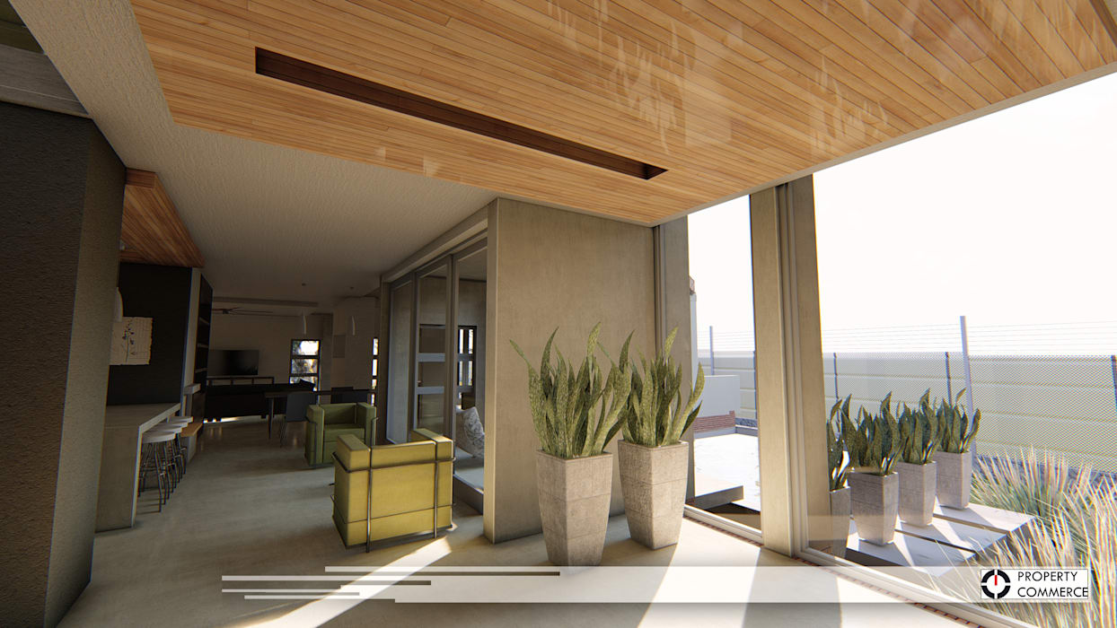 Modern Corridor, Hallway and Staircase by Property Commerce Architects Modern