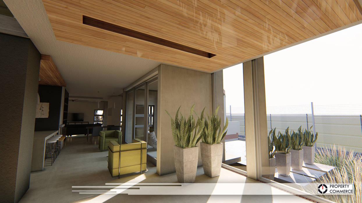ห้องโถงทางเดินและบันไดสมัยใหม่ โดย Property Commerce Architects โมเดิร์น