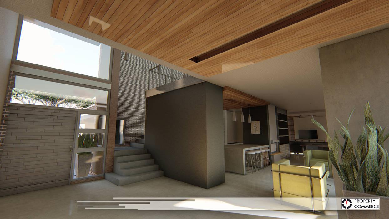ระเบียงและโถงทางเดิน โดย Property Commerce Architects, โมเดิร์น