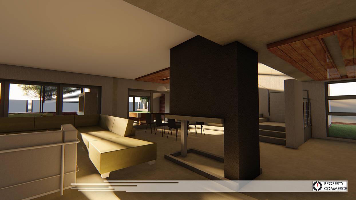 Salones de estilo  de Property Commerce Architects, Moderno