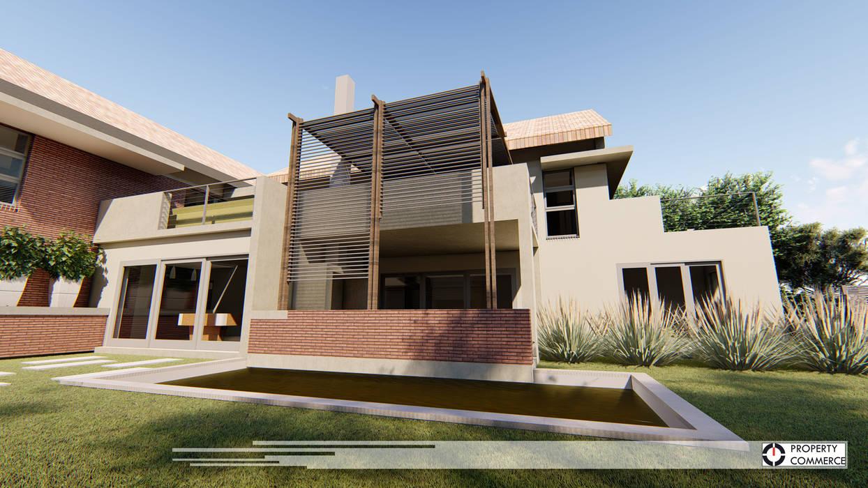 Modern Balkon, Veranda & Teras Property Commerce Architects Modern