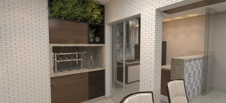 INTERIORES - APARTAMENTO 111,50m² Varandas, alpendres e terraços modernos por Sotto Mayor Arquitetura e Urbanismo Moderno