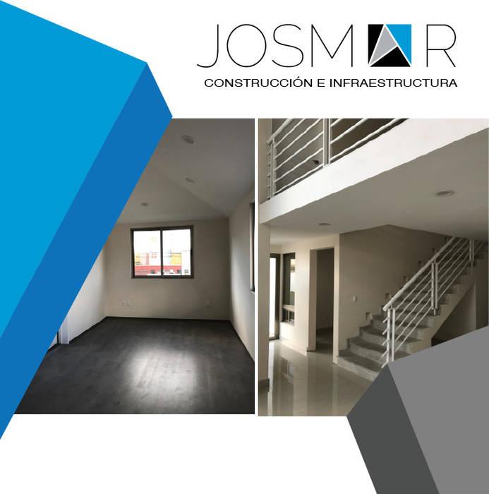 JOSMAR CONSTRUCCIÓN E INFRAESTRUCTURA Modern Corridor, Hallway and Staircase White
