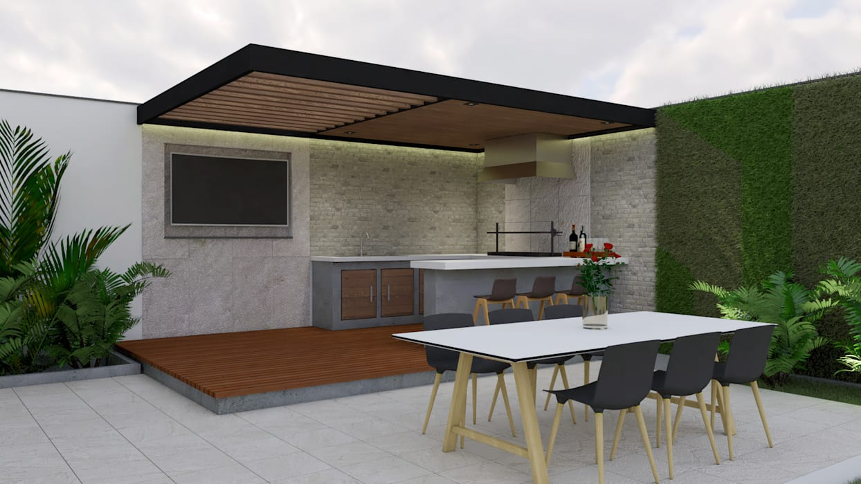 Terraza tipo para casa 200 casas unifamiliares de estilo for Paginas de diseno de casas