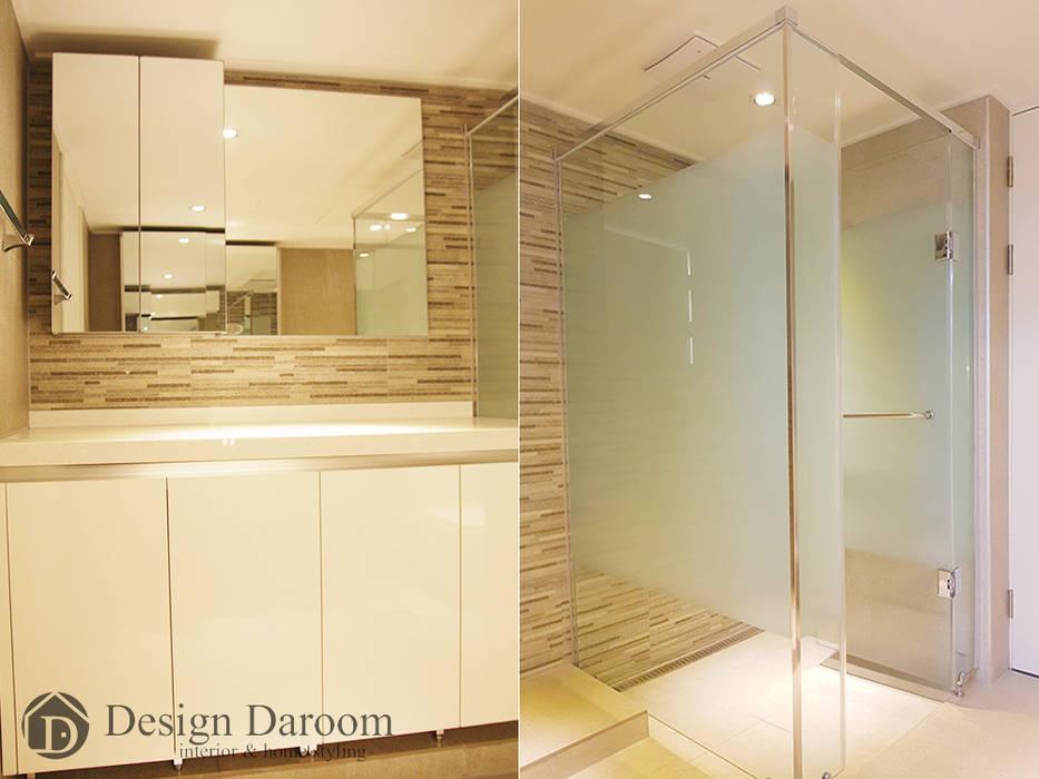 광장동 현대홈타운 53평형 안방욕실 모던스타일 욕실 by Design Daroom 디자인다룸 모던