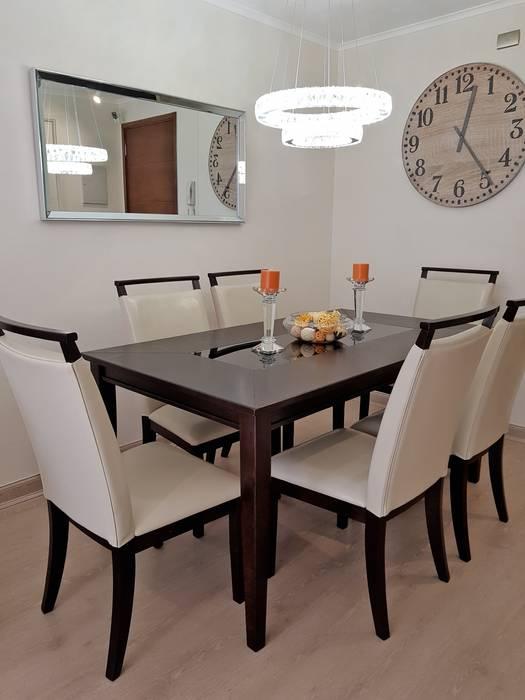 Living comedor 28 m2 Comedores de estilo moderno de Oscar Saavedra Diseño y Decoración Spa Moderno Derivados de madera Transparente