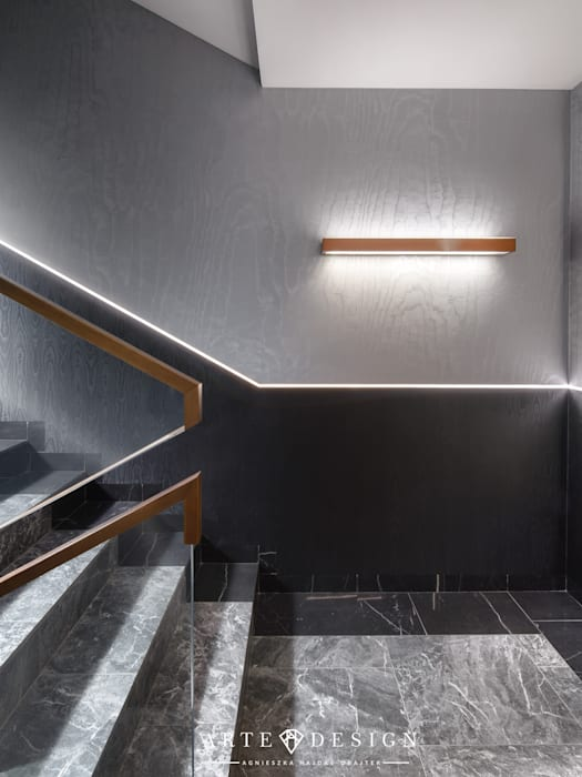 Pensjonat w Sopocie - hall i korytarze: styl , w kategorii Podłogi zaprojektowany przez Arte Dizain. Agnieszka Hajdas-Obajtek