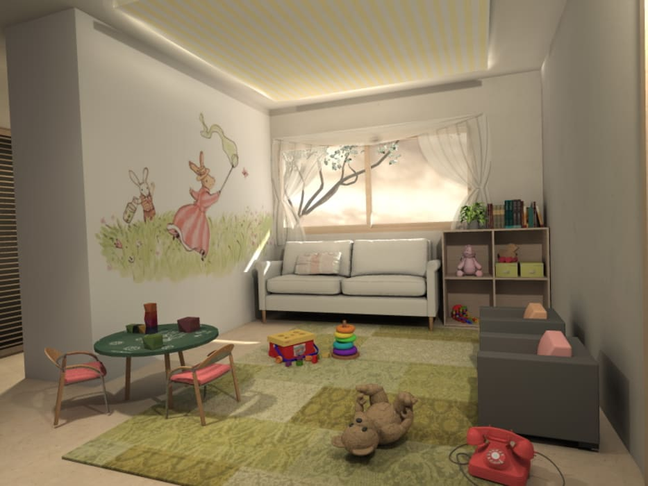 Diseño Interior Habitacion de bebe y cuarto de juegos MM Design Dormitorios de bebé Blanco