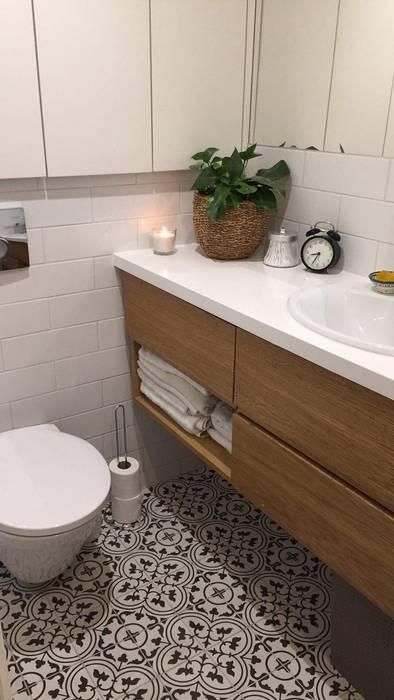 Płytki Cementowe łazienka W Mieszkaniu Styl W Kategorii