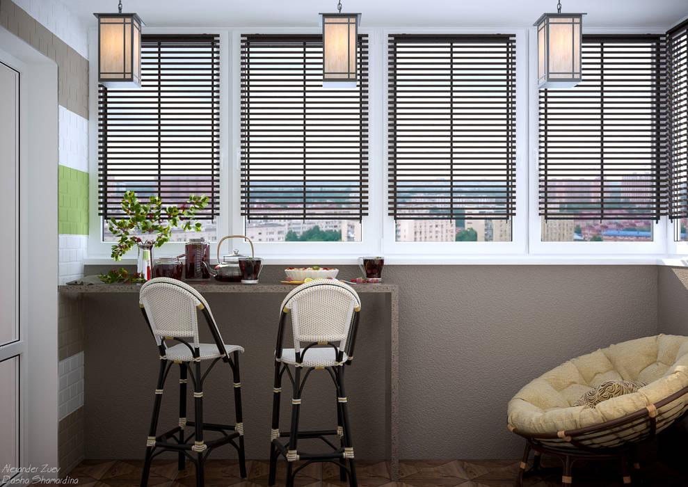 Nhà bếp phong cách hiện đại bởi Студия интерьерного дизайна happy.design Hiện đại