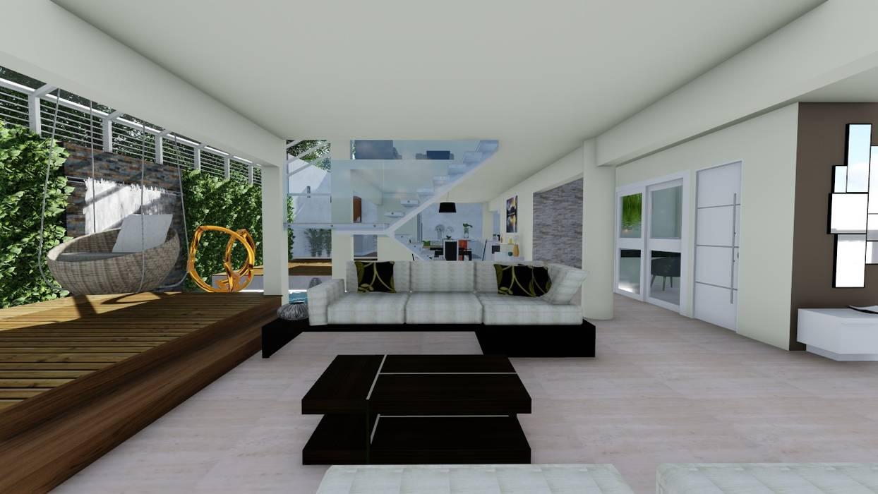 Sala principal: Salas / recibidores de estilo  por Vida Arquitectura