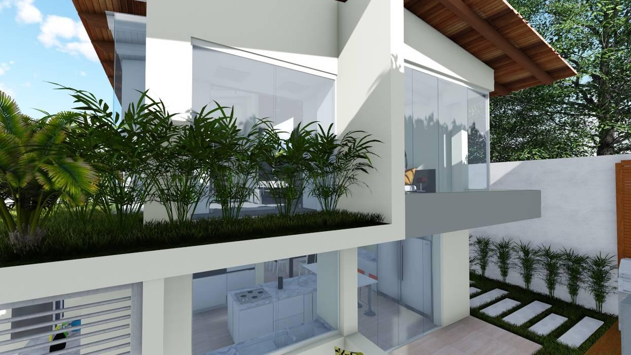 Fachada posterior: Casas de estilo  por Vida Arquitectura