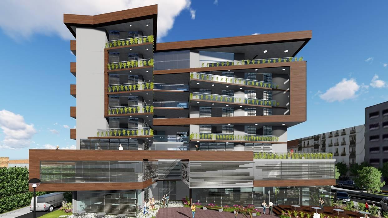 Fachada principal: Casas multifamiliares de estilo  por Vida Arquitectura