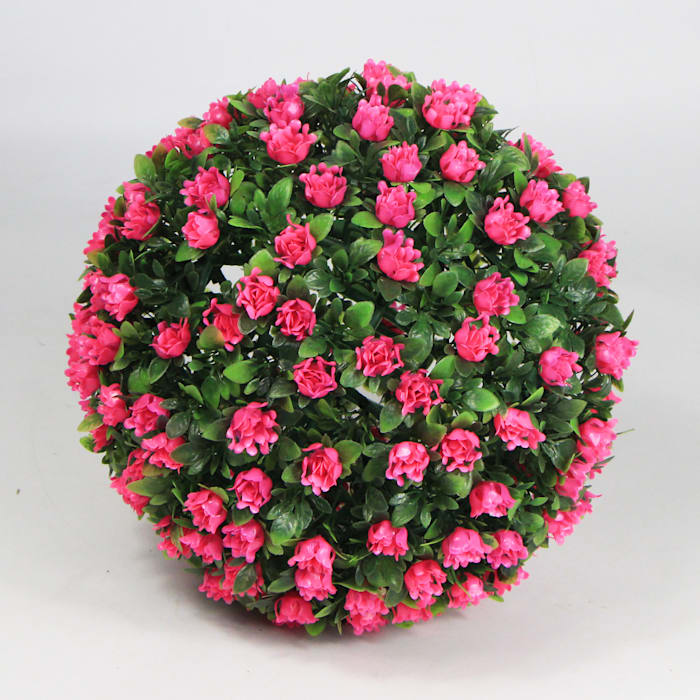 Pink Artificial Topiary Ball: country  by Sunwing Industrial Co., Ltd.,Country Plastic