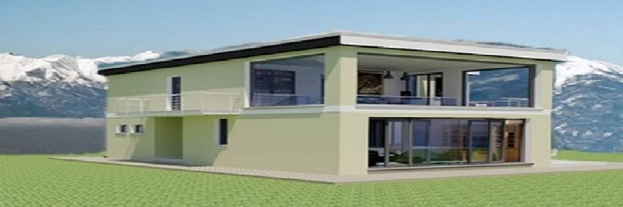 Villa Barbara: Case in stile in stile Moderno di Pramazzonicasa
