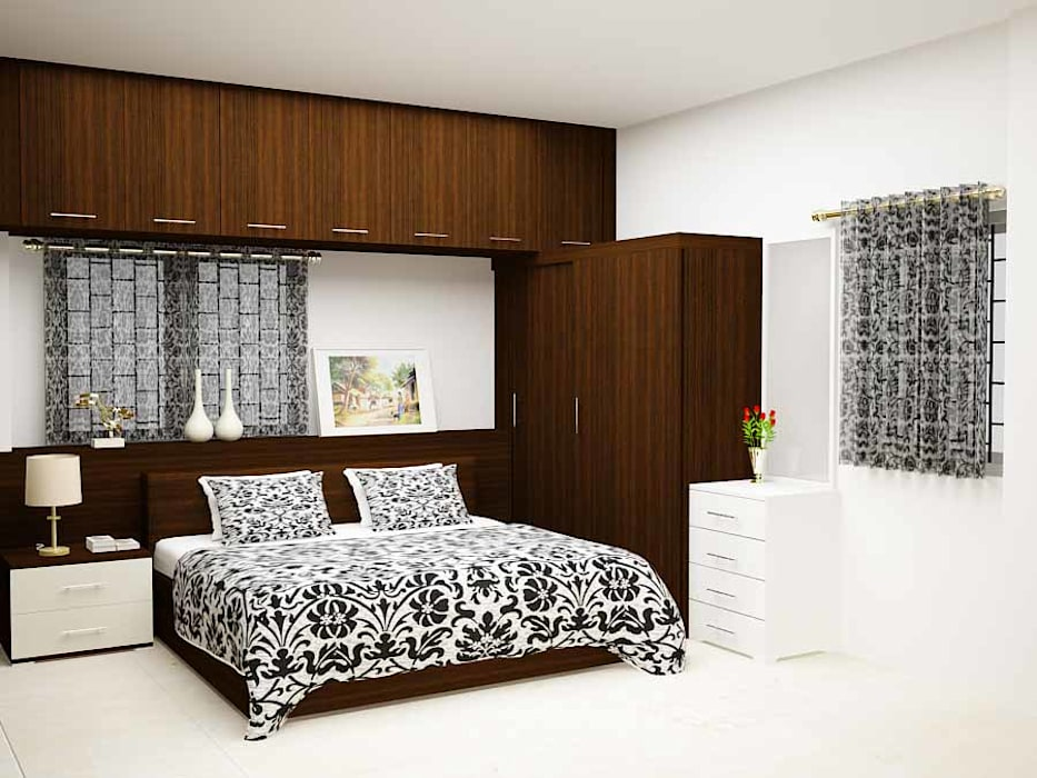 County dark:  Bedroom by Inshows Displays Private Limited