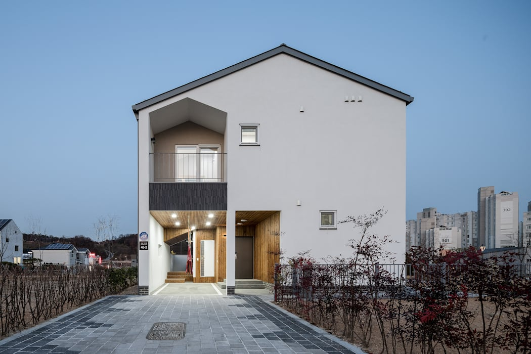 고운동 고운숲 모던스타일 주택 by 소하 건축사사무소 SoHAA 모던
