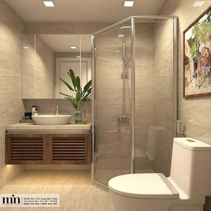 Vinhomes Golden River Apart:  Phòng tắm by Min Decor