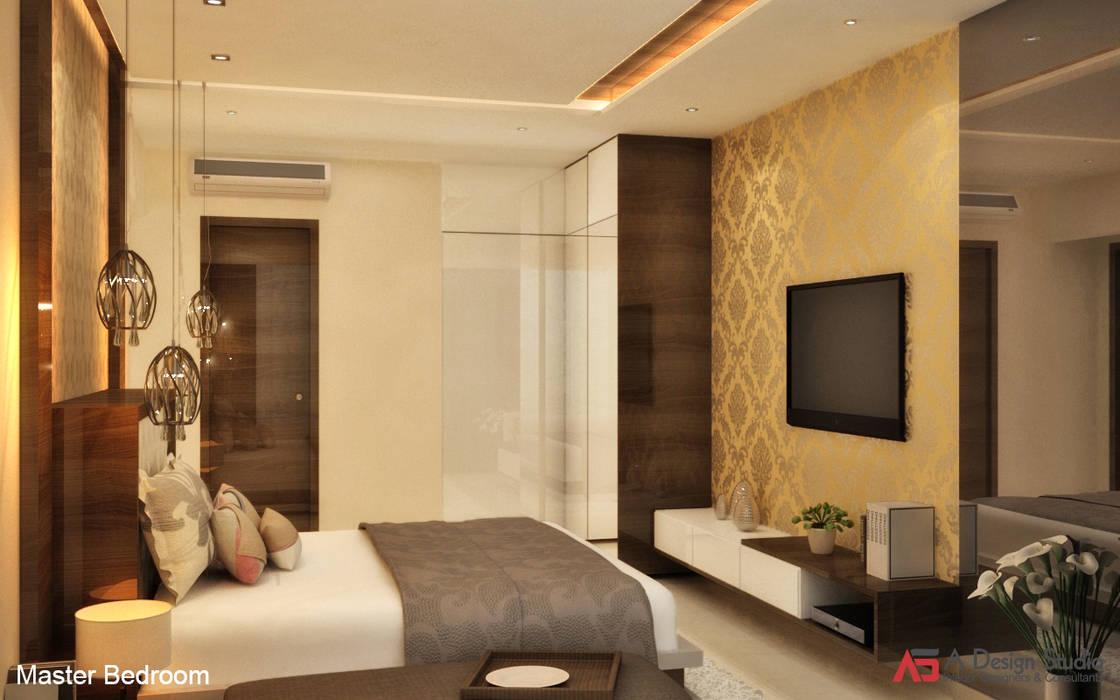 MASTER BEDROOM Minimalist bedroom by A Design Studio Minimalist