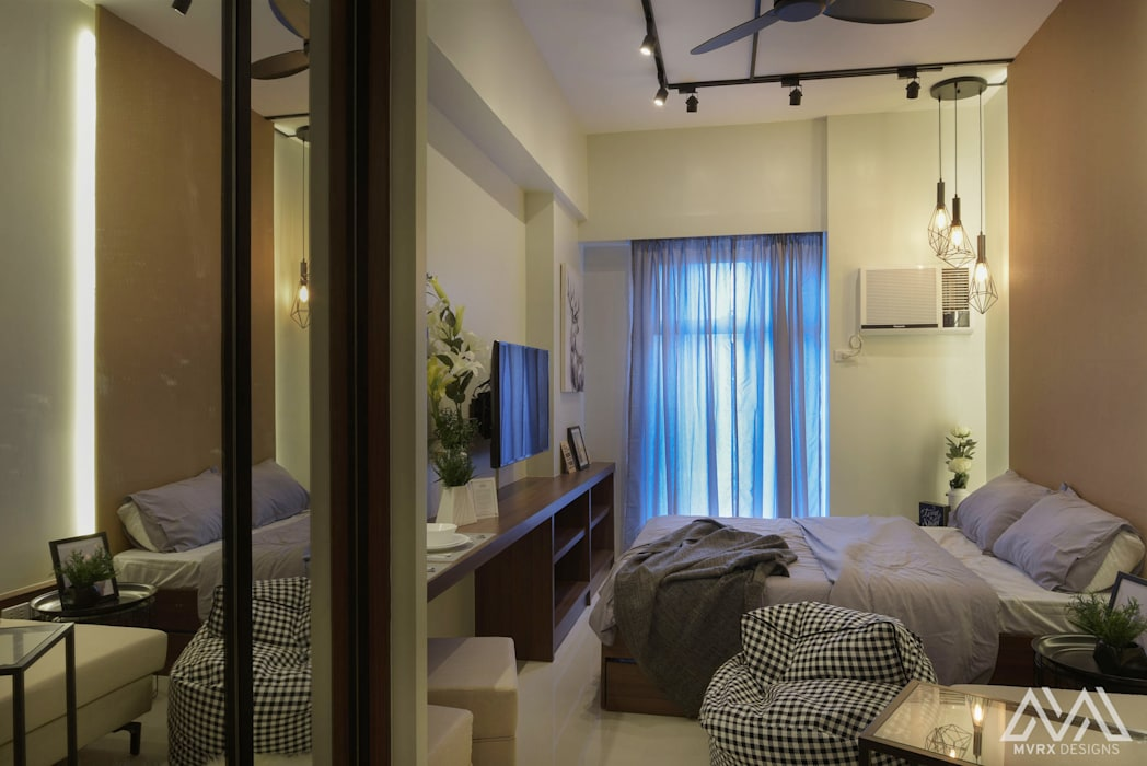 Brooklyn Vibe - The Currency Industrial style bedroom by MVRX Designs Industrial