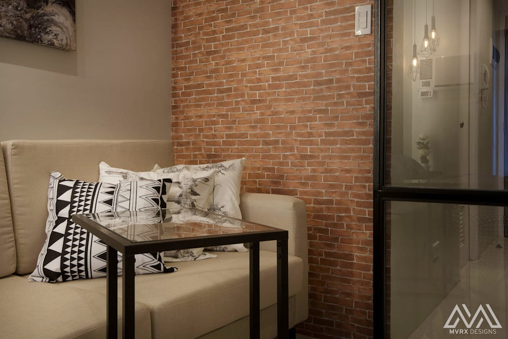 Brooklyn Vibe - The Currency:  Living room by MVRX Designs,