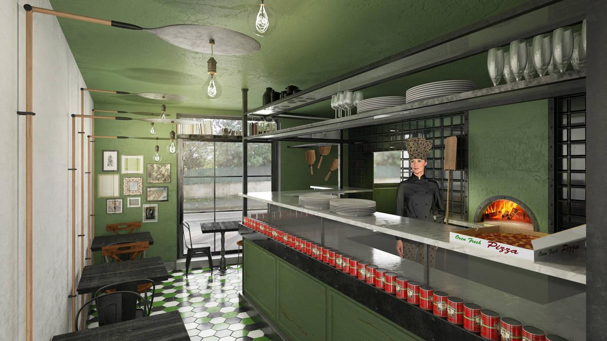 MAMALU restaurant: Negozi & Locali commerciali in stile  di Studio Gentile