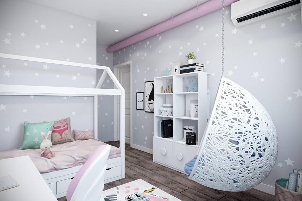 Квартира 75 кв.м. в стиле лофт на Мичуринском. Детская комната в стиле лофт от Студия архитектуры и дизайна Дарьи Ельниковой Лофт