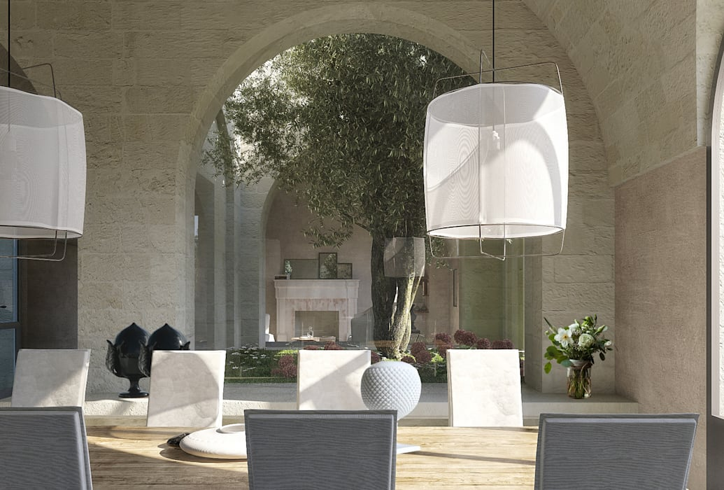 Dining room by architetto stefano ghiretti,