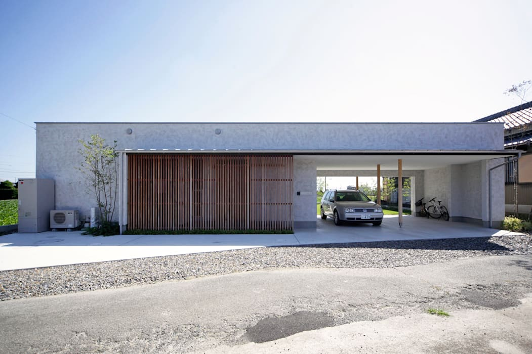 Couloir et hall d'entrée de style  par kisetsu,
