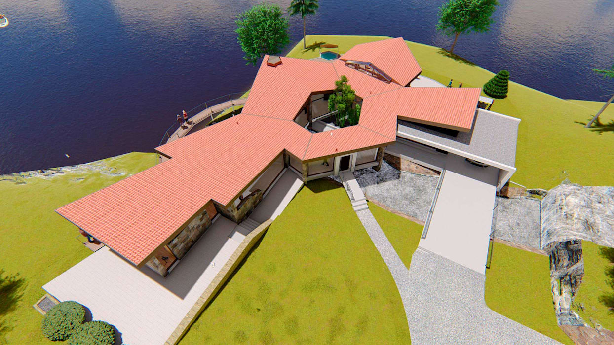Casa Montes: Casas campestres de estilo  por ProyecTTo