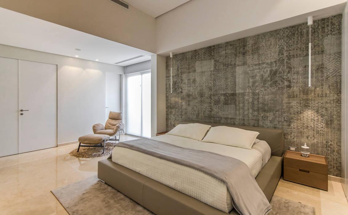 Dormitorio principal - Mobiliario: Cuartos de estilo  por Design Group Latinamerica, Minimalista