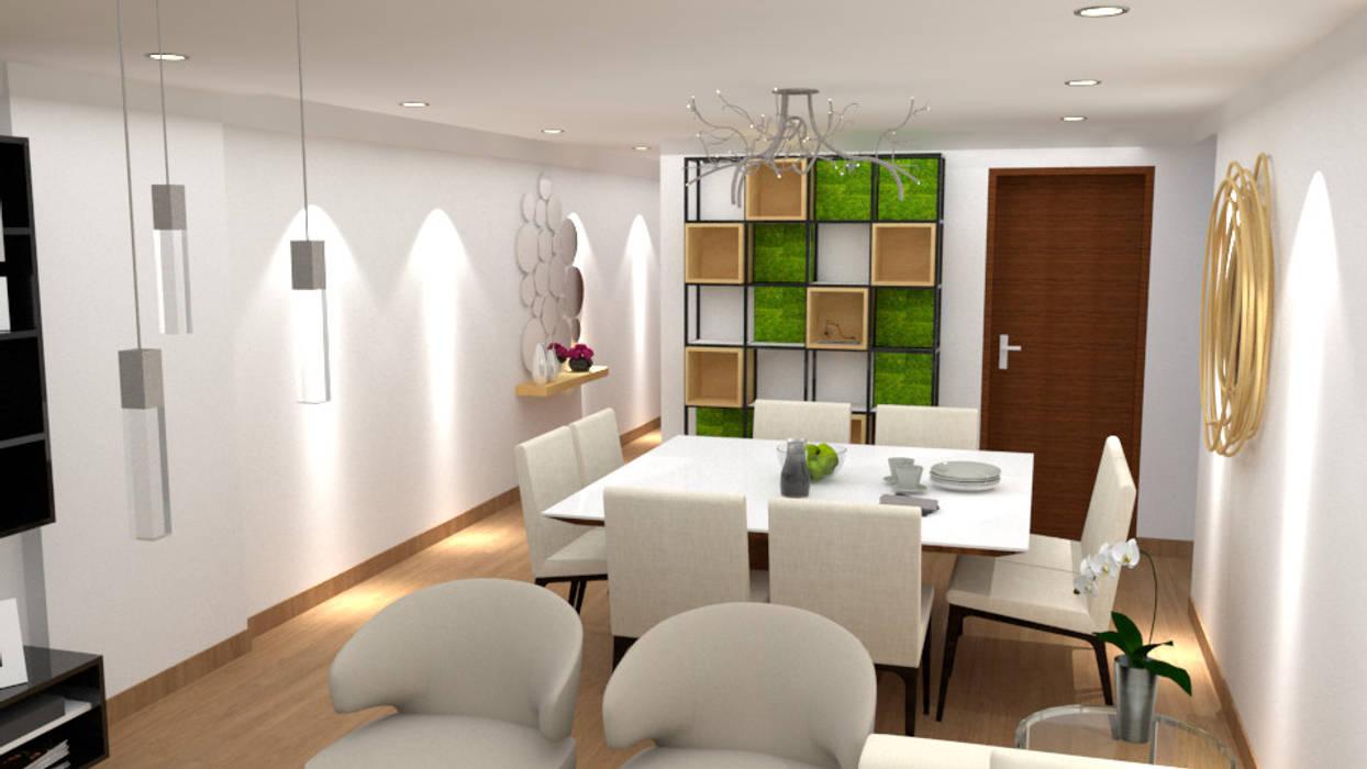 Dise o sala comedor comedores de estilo moderno por Diseno de interiores salas comedor pequenas