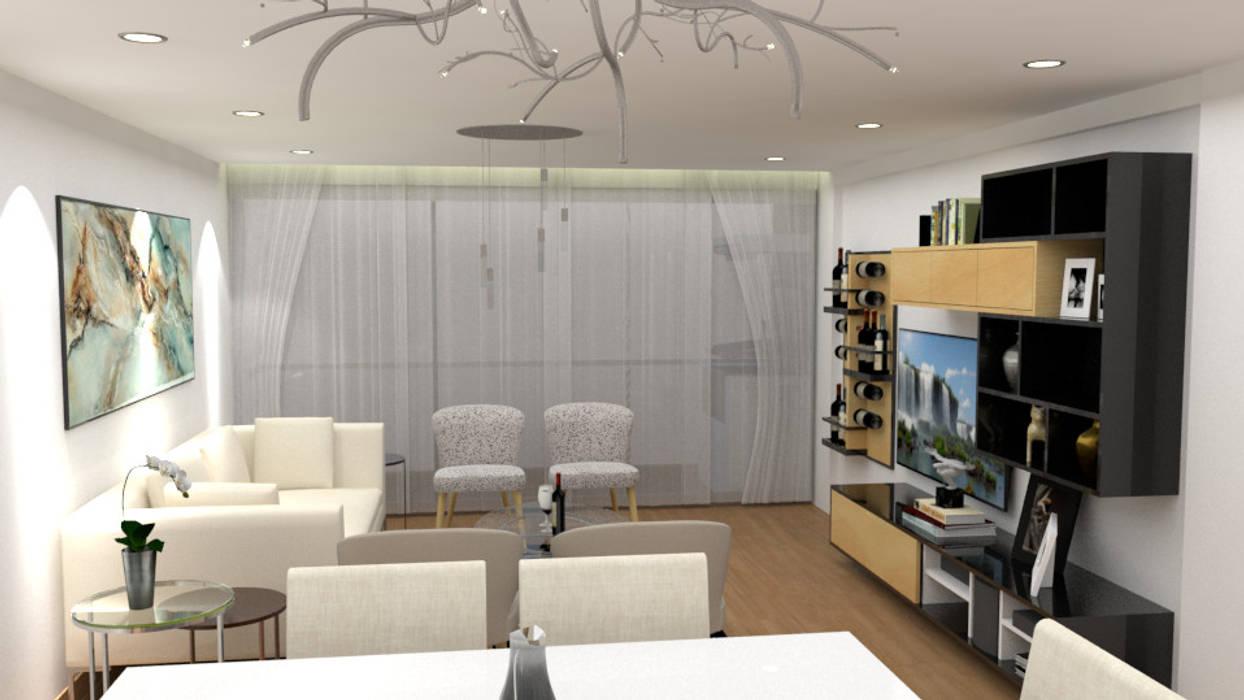 Diseño sala - comedor : salas / recibidores de estilo moderno por ...