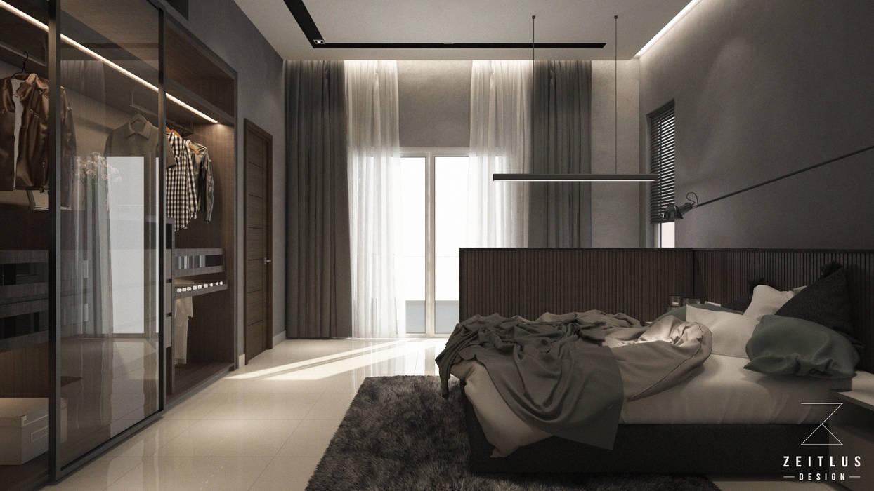 MASTER BEDROOM WARDROBE:  Bedroom by Zeitlus Design,